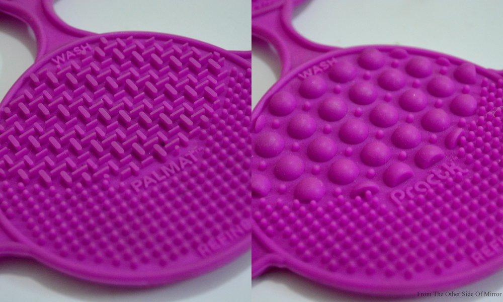 Left- Fine engraving for smaller brushes Right- Large engravings for Larger brushes