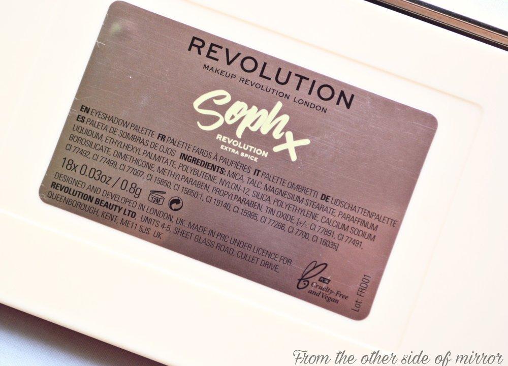Revolution x SophX Extra Spice Pallete