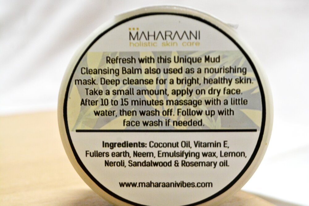 ZESTER Mud Cleansing Balm by MAHARAANI - Ingredients & Instructions