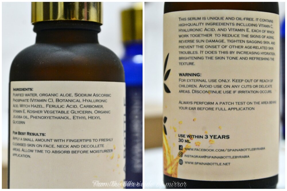 Spa in a bottle The Advanced Vit C&E Serum - Ingredients & Instructions